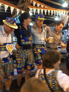 Yes, people make lederhosen out of the local fabrics...
