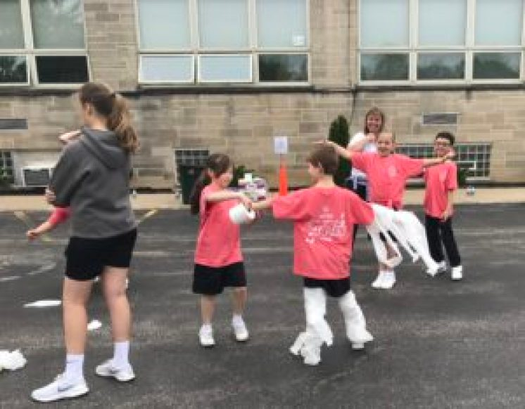 mummy relay games for field day