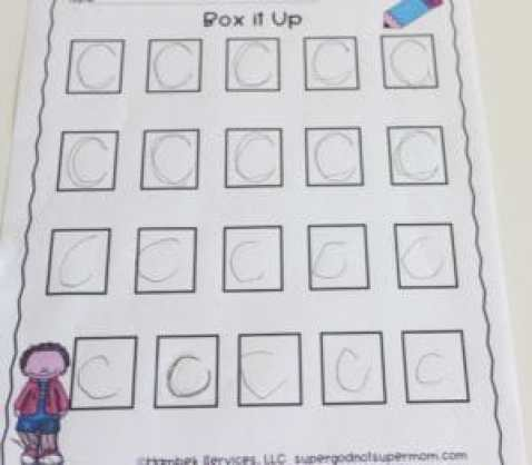 Box It Up writing activity