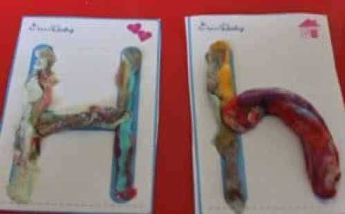Letter H Pre Writing Play Dough Activity