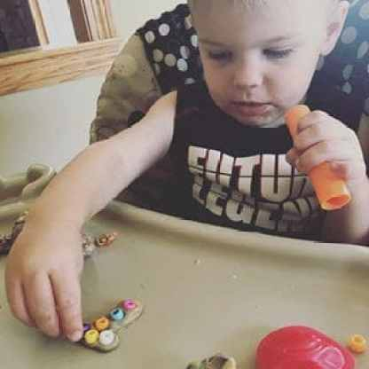 Toddler Play-Doh Letter Activity