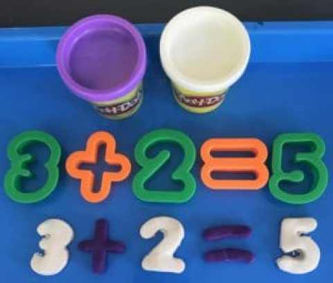 Play Doh Cut Outs Addition Activity