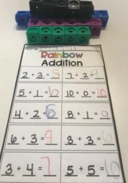 Counting Cube Addition Game