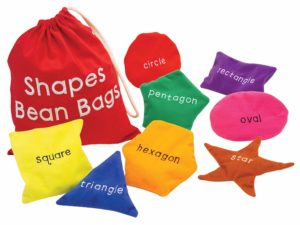 Shape active beanbags for learning shapes