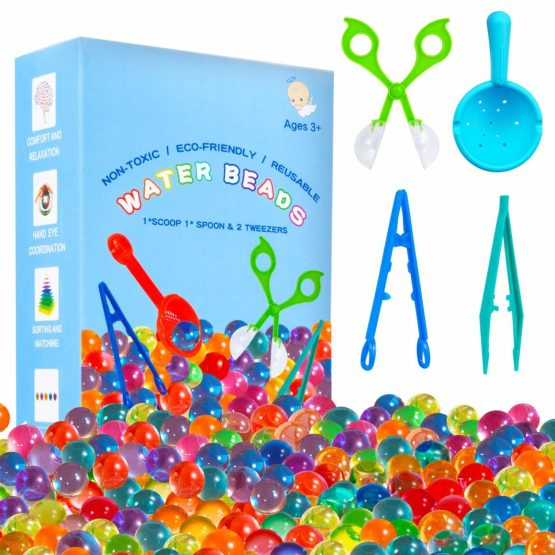 water beads sensory and fine motor activity - best learning toys for kids