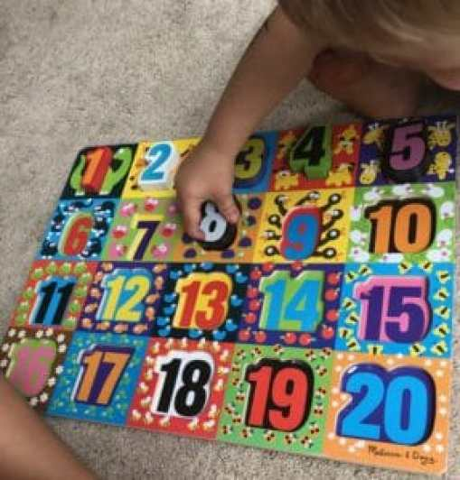 1-20 Melissa and Doug Number Learning Puzzle