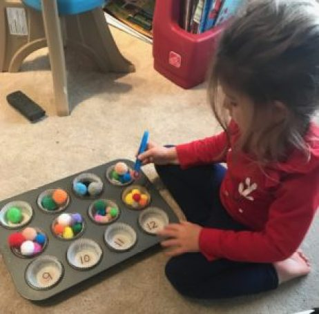 Pom Pom Counting Fine Motor Activity