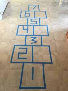 hopscotch painters tape math game!