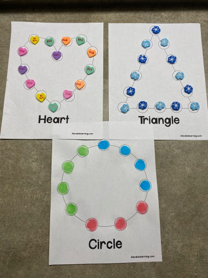 fine motor shape mat worksheets
