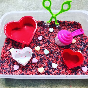 colored rice sensory activity
