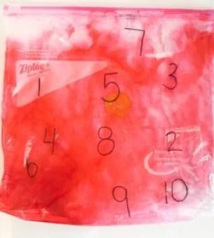 number sensory bag game