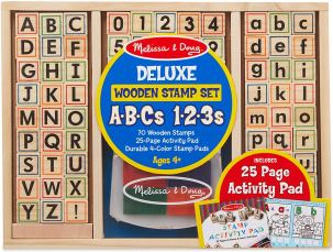 alphabet and number stamps