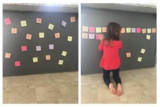 number line sticky notes