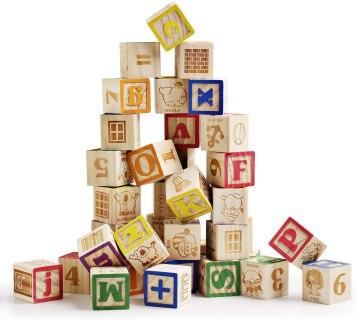 alphabet wooden blocks