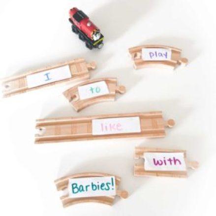 sentence building train tracks