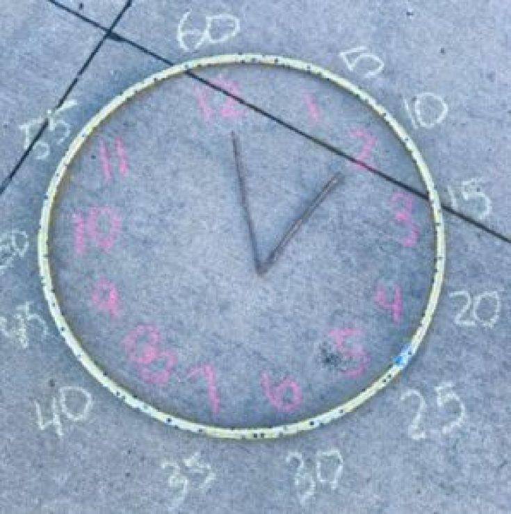 hula hoop outdoor learning clock