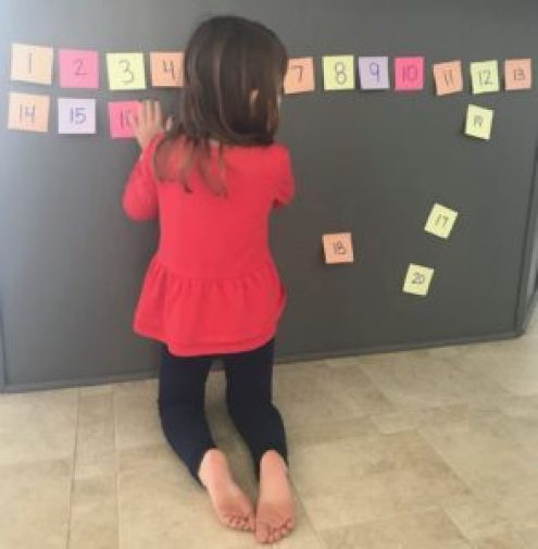 post it number line