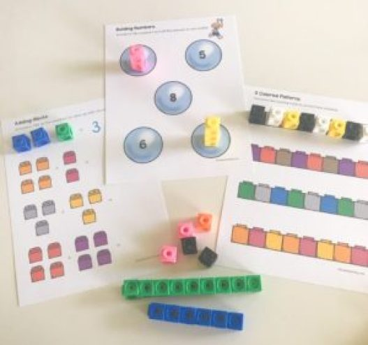 counting cube worksheets