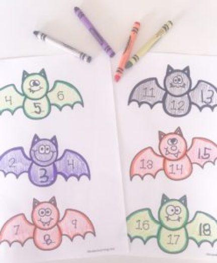 counting bats worksheet