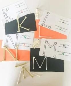 bone letters