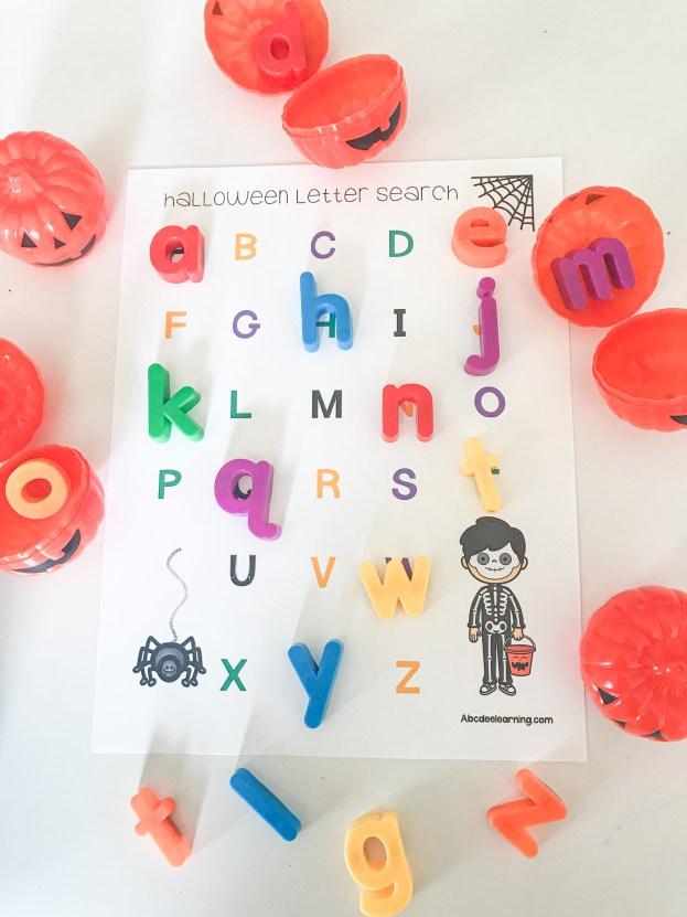 alphabet mat halloween