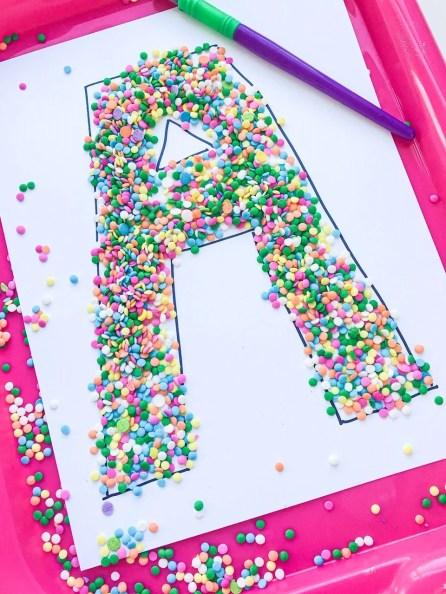 sprinkle letter A