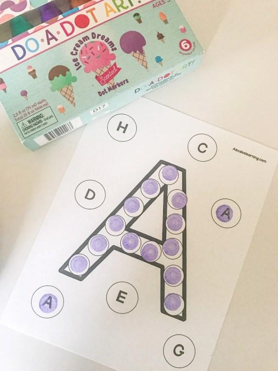 letter a do a dots