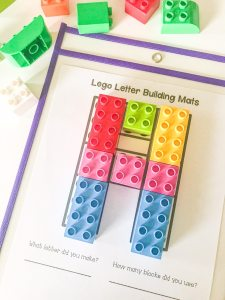 LEGO Letters Mat