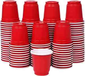 mini red cups