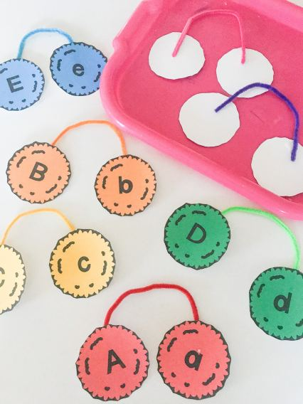 letter muffs activity