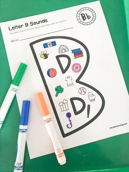 letter B beginning sounds