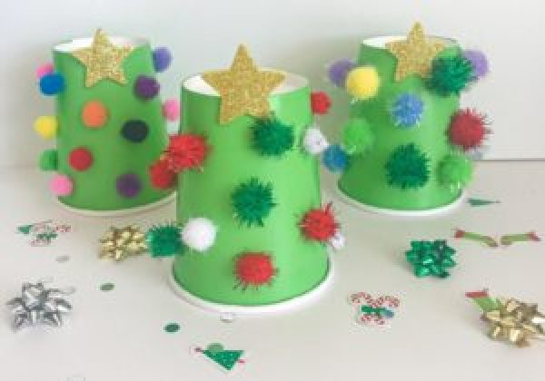 christmas counting cups
