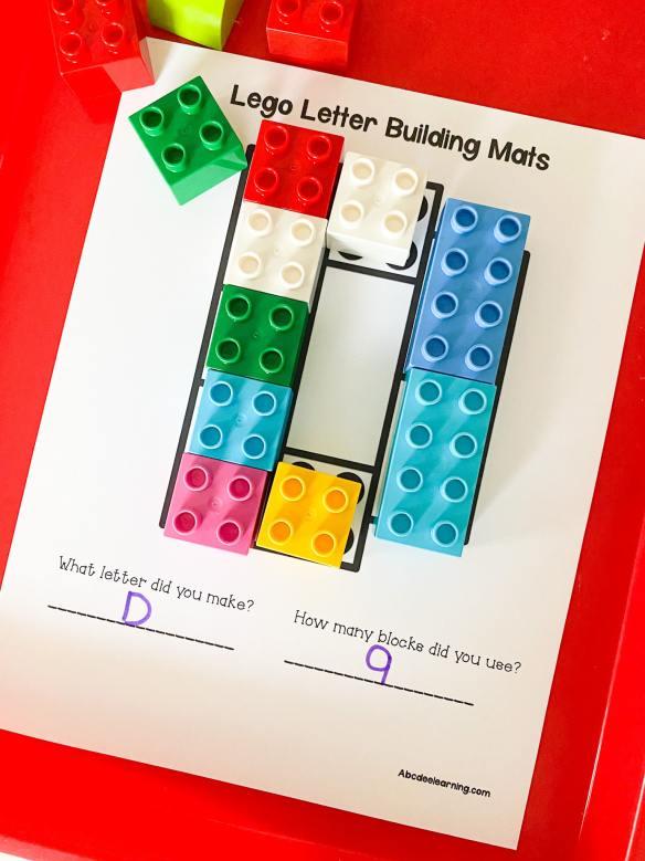 lego letter D building
