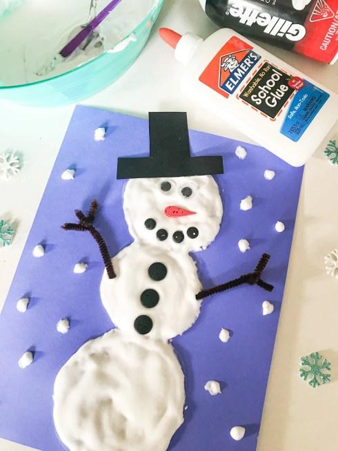 puffy paint snowman craft