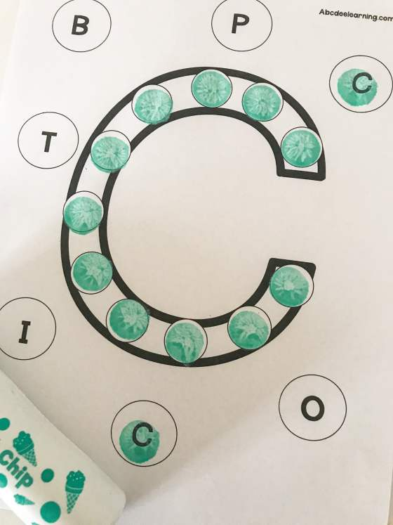letter C do a dot