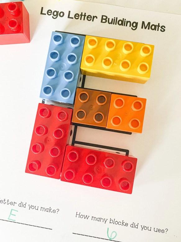 letter E legos