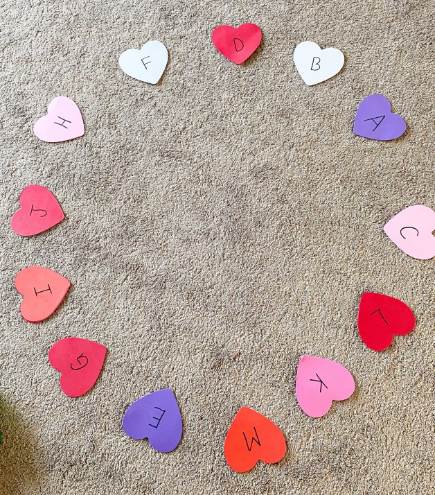 musical hearts activity