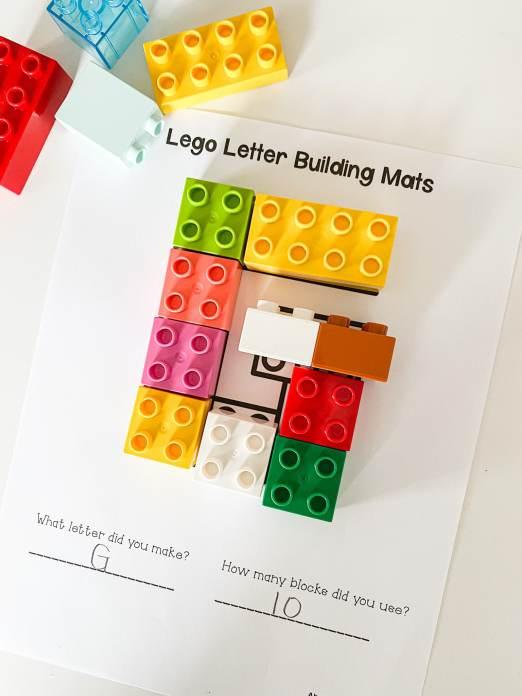 letter G lego building