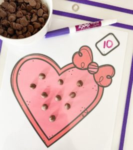 chocolate counting mats
