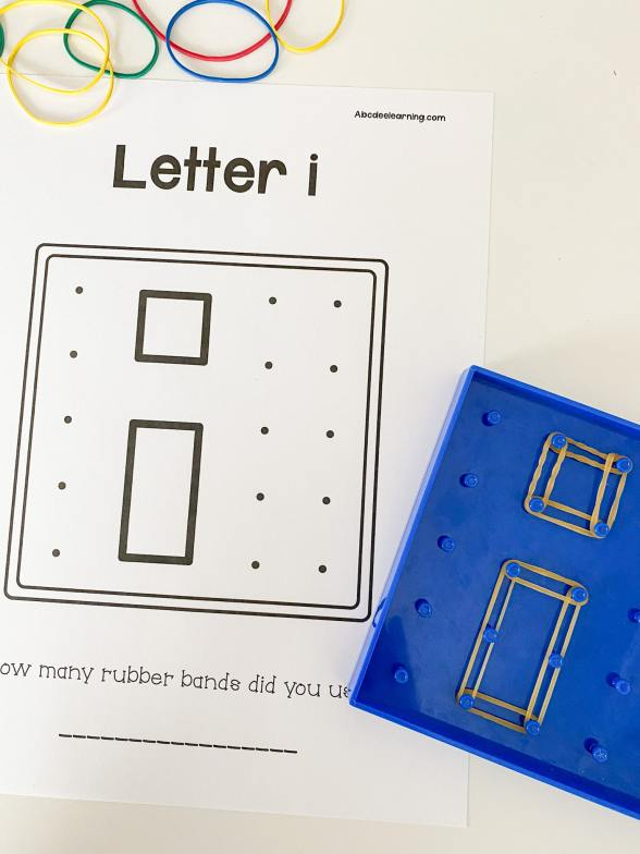 letter I geoboard