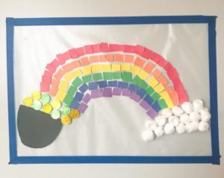 rainbow sticky wall activity