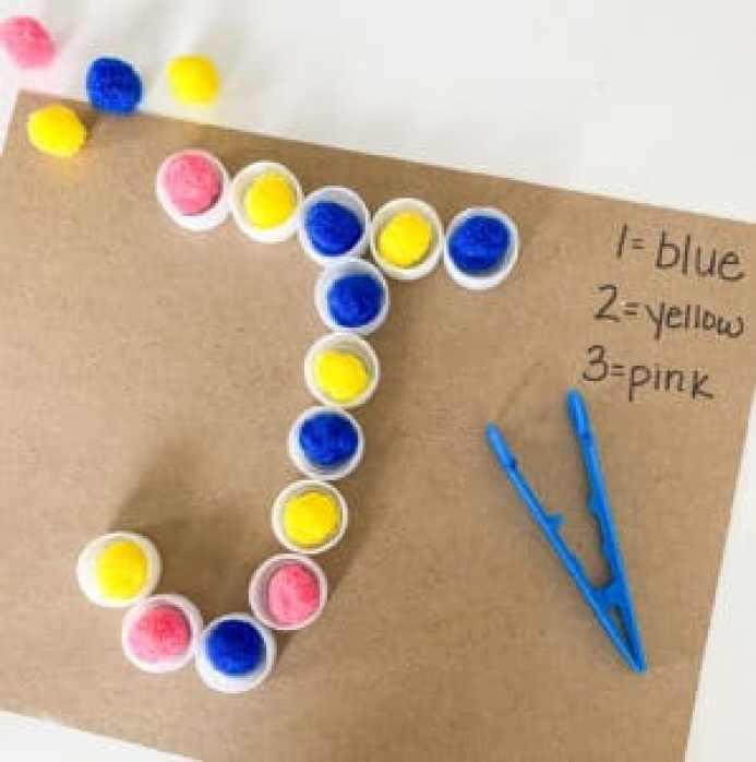 letter J color coding activity