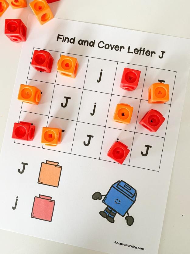 letter J find and cover