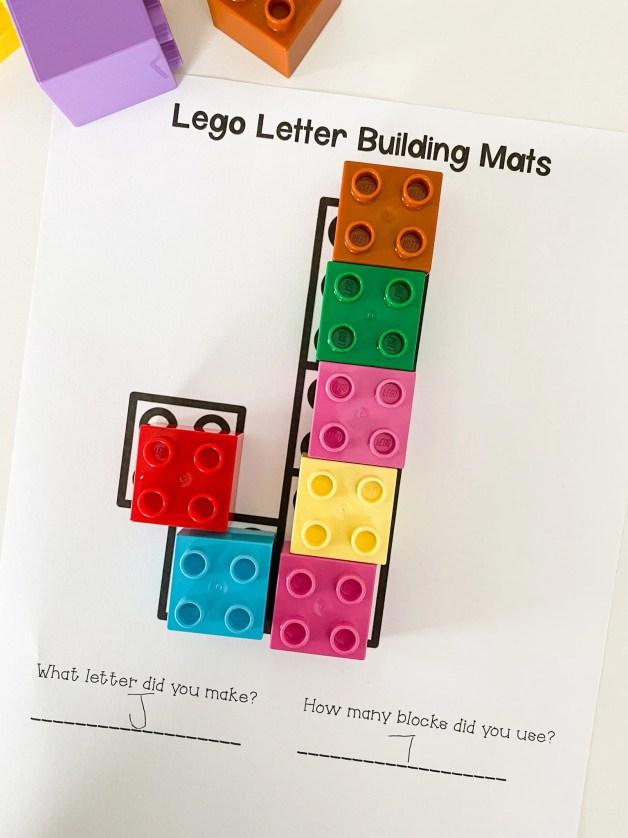 letter j LEGO letters