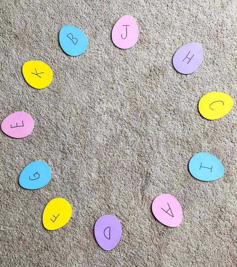 musical egg letters