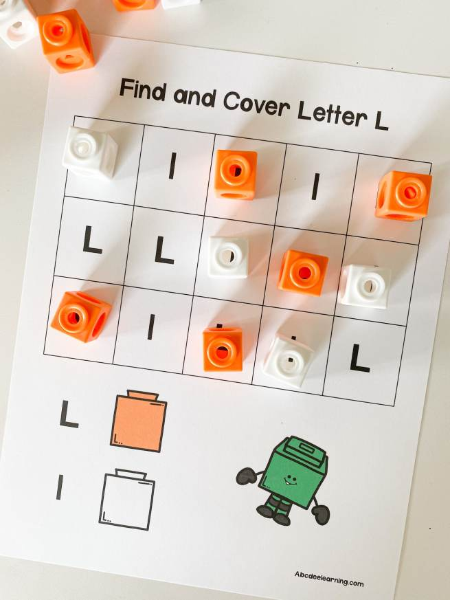 letter L Find and Cover