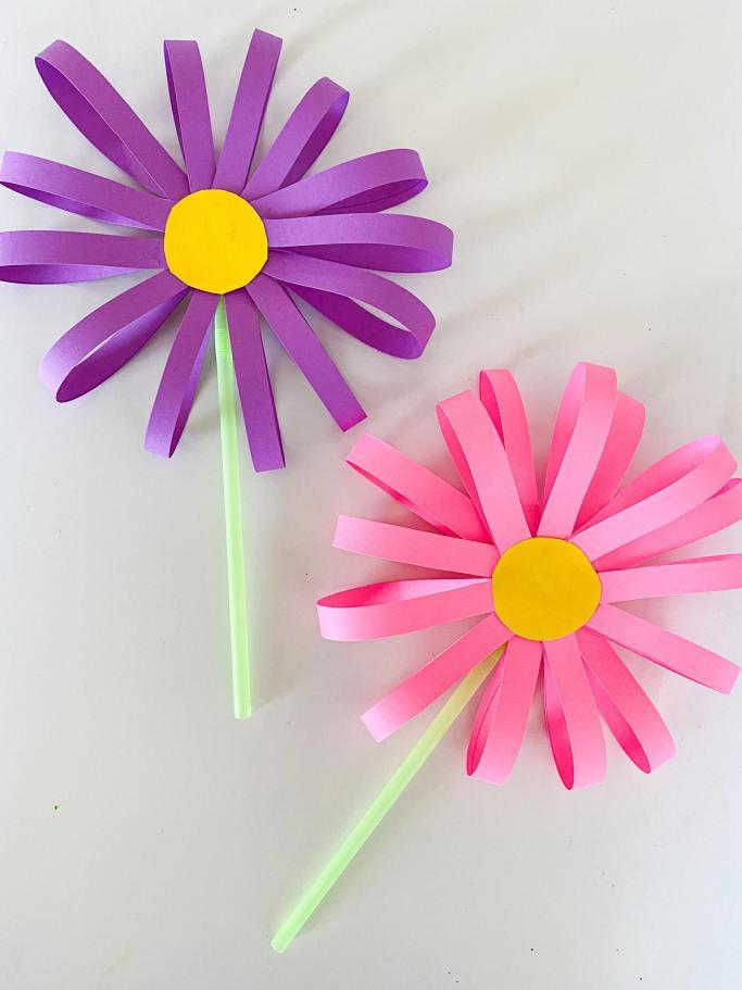 paper loop flower craft
