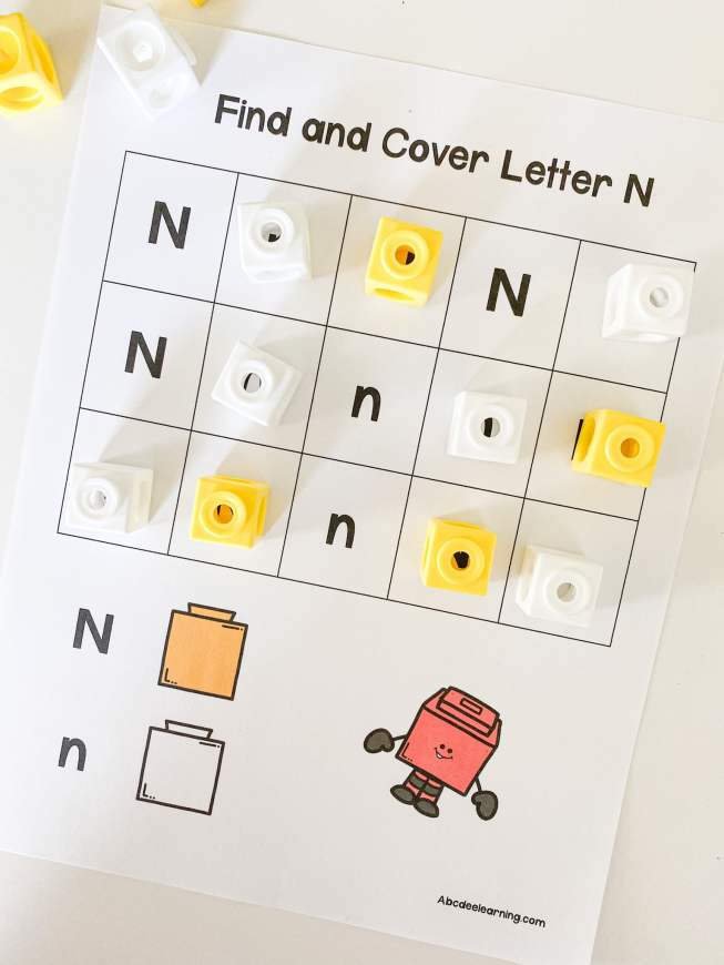 letter n find and cover