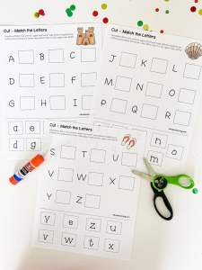 cut and match summer letters