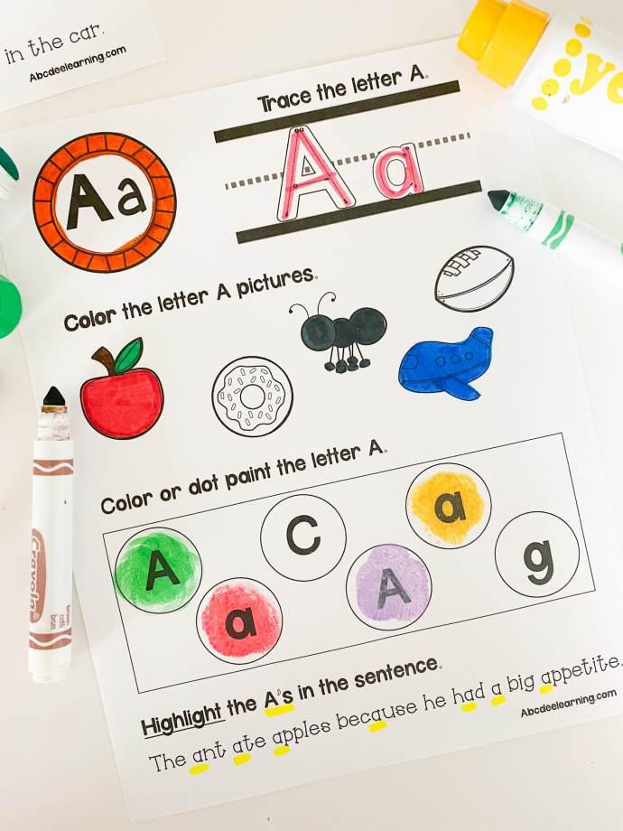 alphabet workbook pages